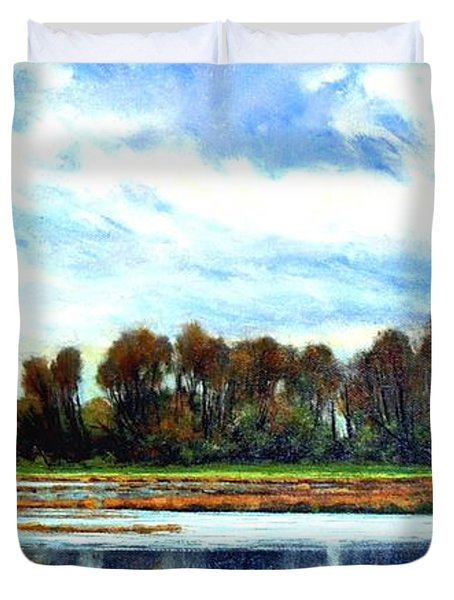 Ridgefield Refuge Early Fall Duvet Cover
