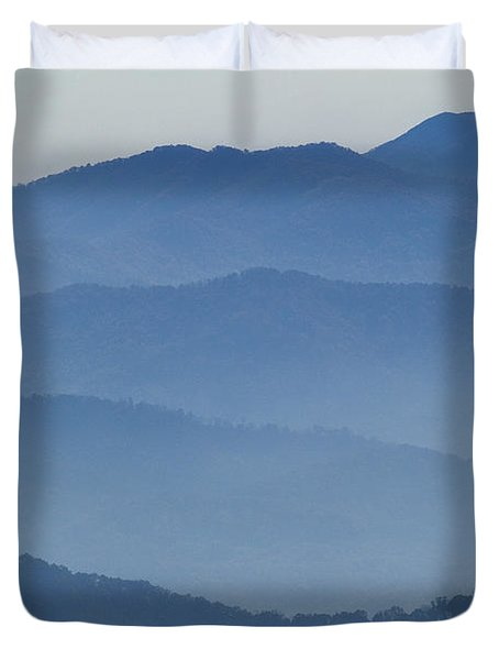 Ridgelines Great Smoky Mountains Duvet Cover