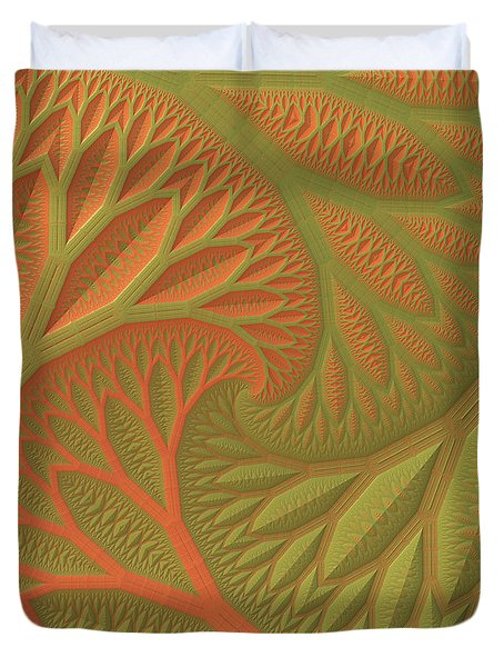 Duvet Cover featuring the digital art Ridges And Valleys by Lyle Hatch