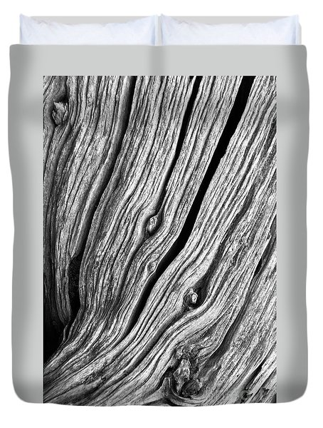 Duvet Cover featuring the photograph Ridges - Bw by Werner Padarin