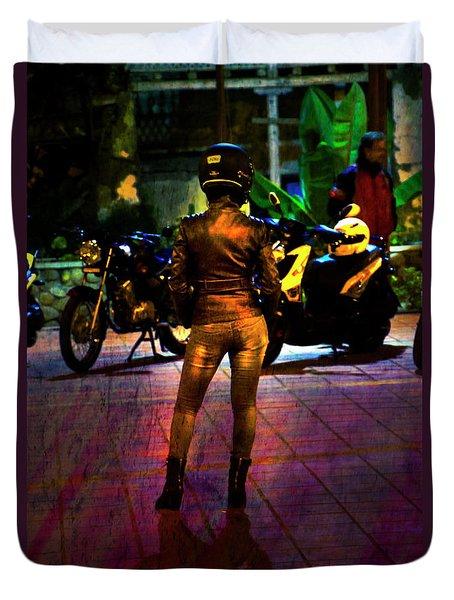 Riding Companion II Duvet Cover by Al Bourassa