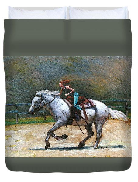 Riding Dollar Duvet Cover