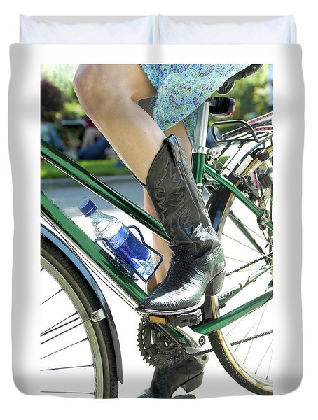Riding In Style Duvet Cover
