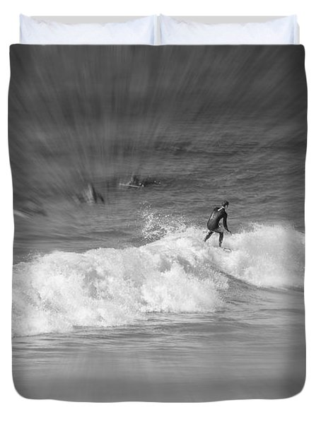 Riding It Out Duvet Cover by Susan  McMenamin