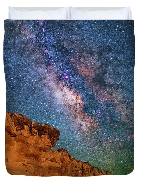 Riding Over The Arch Duvet Cover
