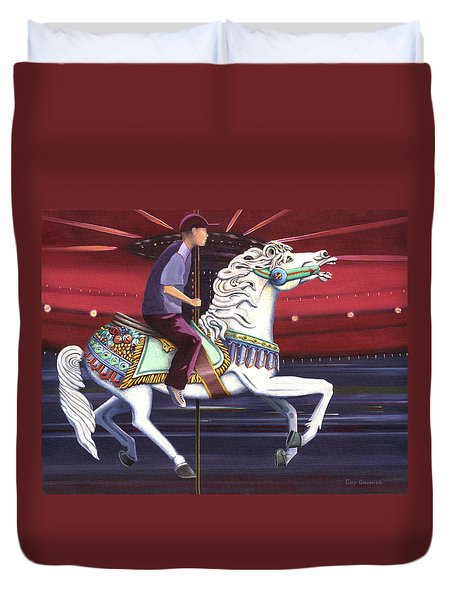 Riding The Carousel Duvet Cover