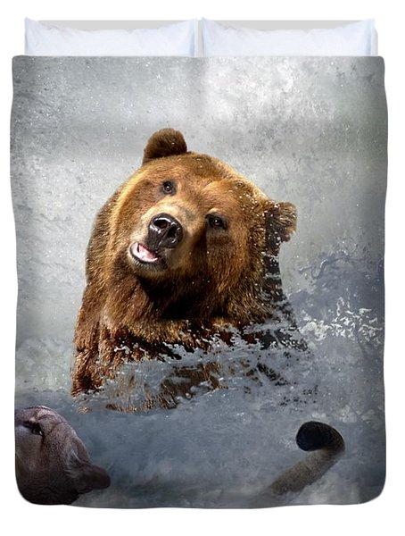 Riding The Gauntlet Duvet Cover by Bill Stephens