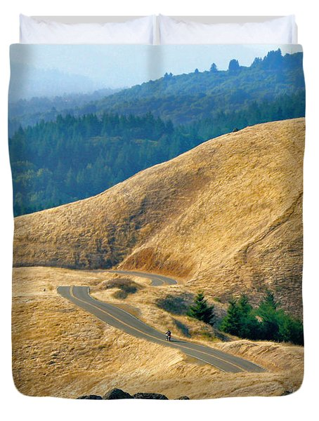Riding The Mountain Duvet Cover