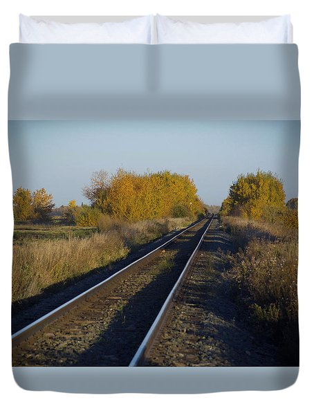 Riding The Rails Duvet Cover