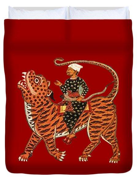 Riding The Tiger Duvet Cover
