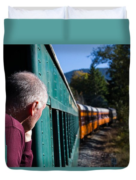 Riding The Train 8x10 Duvet Cover