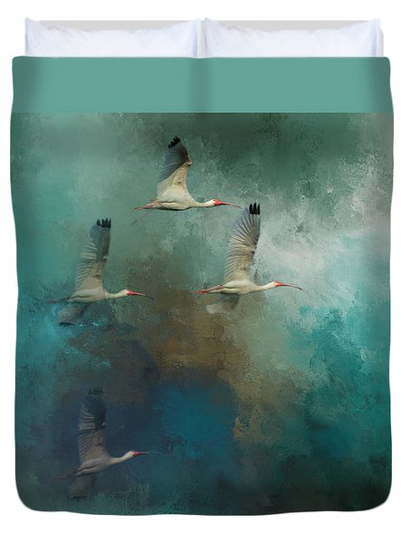Duvet Cover featuring the photograph Riding The Winds by Marvin Spates