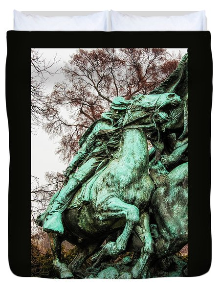 Duvet Cover featuring the photograph Riding Tight by Christopher Holmes