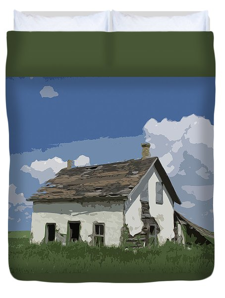 Riel Period Homestead Duvet Cover