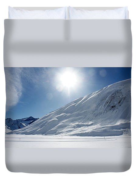 Duvet Cover featuring the photograph Rifflsee by Christian Zesewitz