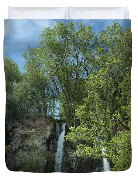 Duvet Cover featuring the photograph Rifle Falls by Daniel Hebard