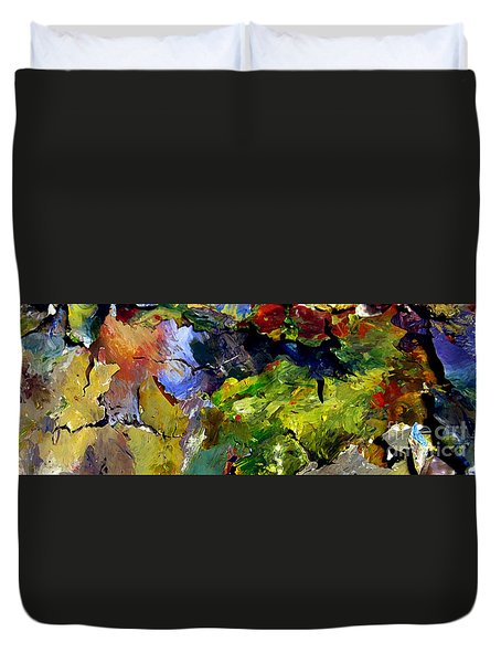Duvet Cover featuring the painting Right Behind The Sofa by Charlie Spear