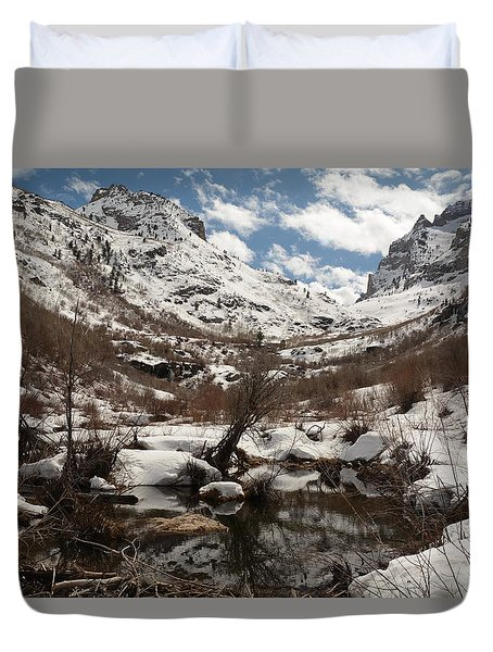 Right Fork Canyon Duvet Cover