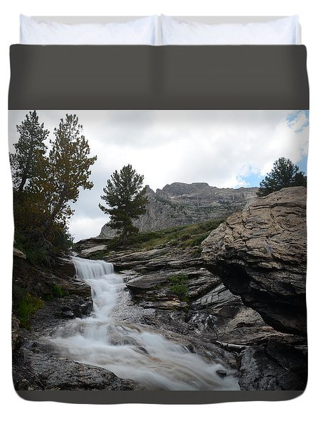 Right Fork Waterfall Duvet Cover
