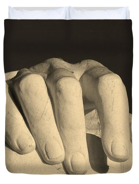 Right Hand Of The Man Duvet Cover