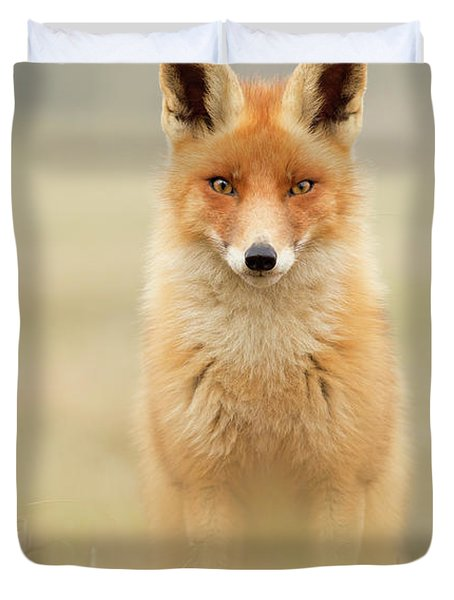 Right Into Your Soul - Red Fox Duvet Cover