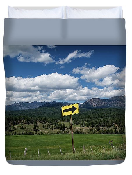 Right This Way Duvet Cover