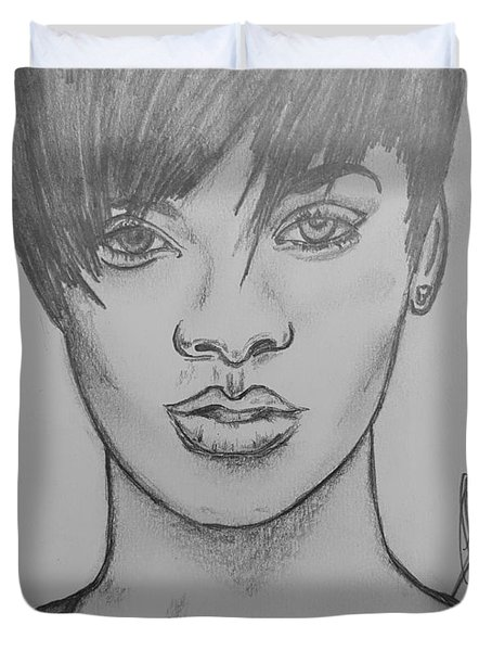 Rihanna 2 Duvet Cover by Collin A Clarke