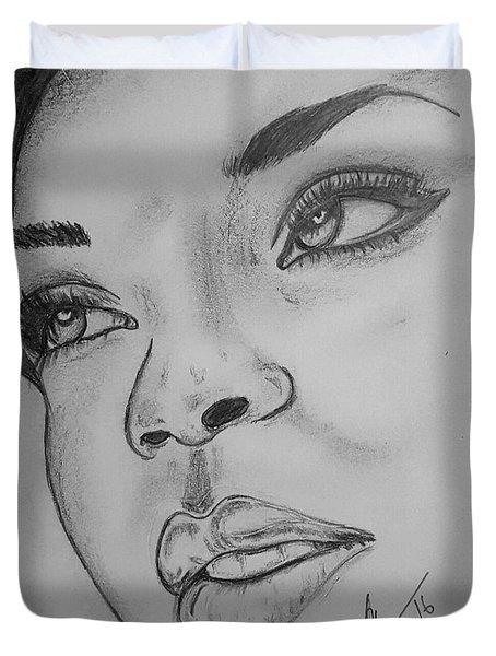 Rihanna Duvet Cover by Collin A Clarke