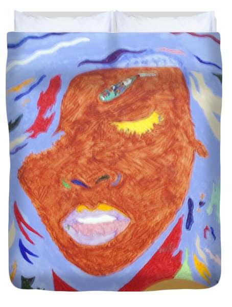 Rihanna Loud Duvet Cover by Stormm Bradshaw