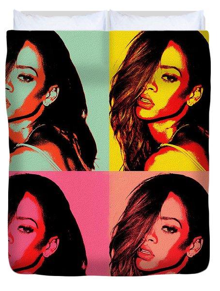 Rihanna Pop Art Duvet Cover