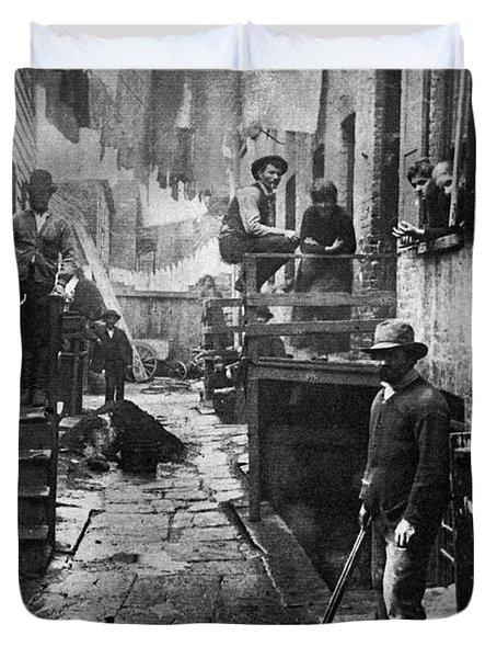 Riis: Bandits Roost, 1887 Duvet Cover