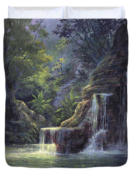 Rim Lit Falls Duvet Cover