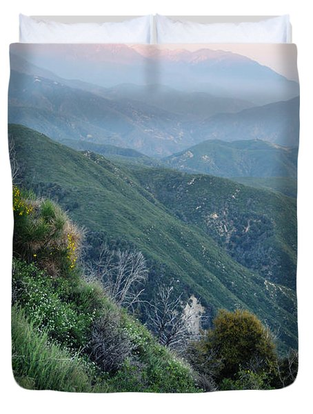 Duvet Cover featuring the photograph Rim O' The World National Scenic Byway II by Kyle Hanson