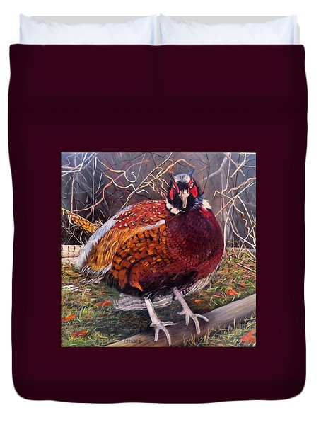 Ring Neck Pheasant Duvet Cover