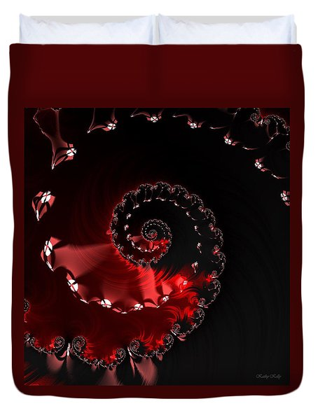 Duvet Cover featuring the digital art Ring Of Fire by Kathy Kelly
