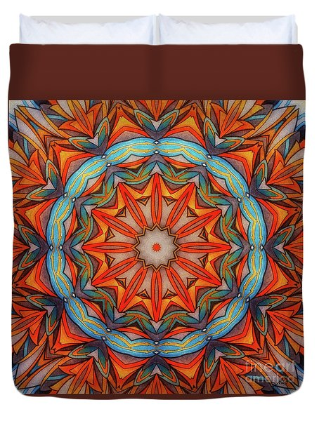 Ring Of Fire Duvet Cover by Mo T