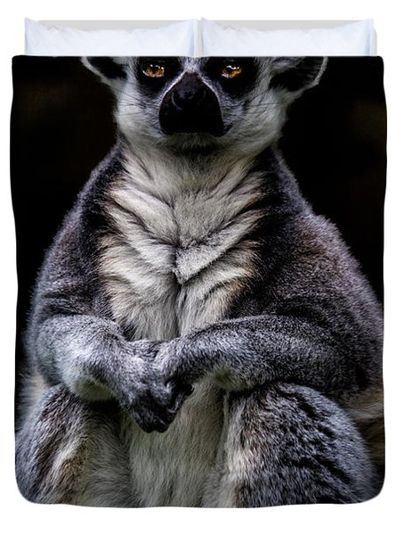 Duvet Cover featuring the photograph Ring Tailed Lemur by Chris Lord