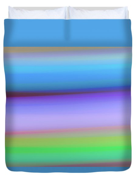 Rings Of Neptune Duvet Cover