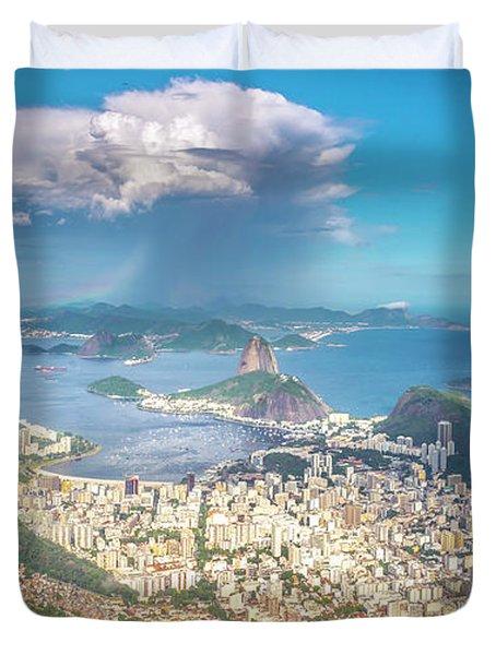 Duvet Cover featuring the photograph Rio De Janeiro by Andrew Matwijec
