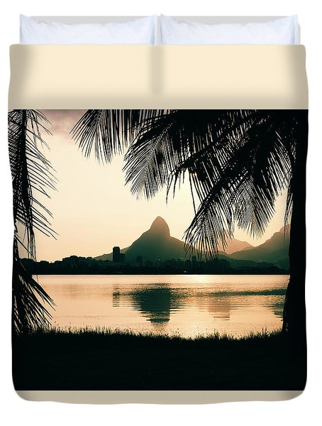 Rio De Janeiro, Brazil Landscape Duvet Cover