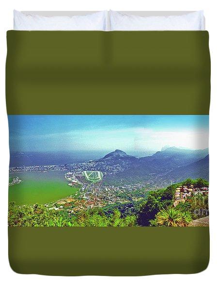Rio De Janeiro Brazil Panorama Duvet Cover