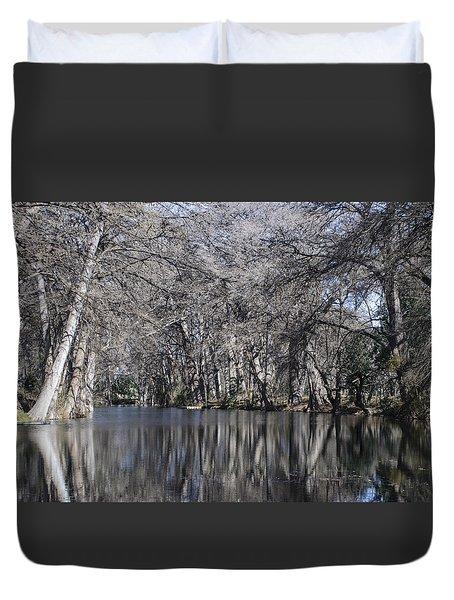 Rio Frio In Winter Duvet Cover