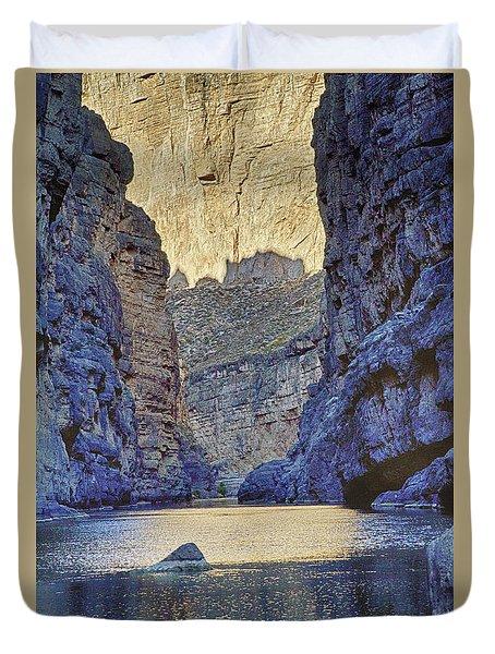 Duvet Cover featuring the tapestry - textile Rio Grand, Santa Elena Canyon Texas 2 by Kathy Adams Clark