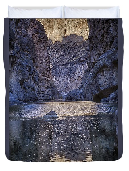 Rio Grand, Santa Elena Canyon Texas Duvet Cover