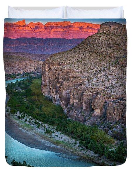 Rio Grande At Dusk Duvet Cover