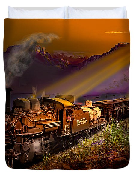 Rio Grande Early Morning Gold Duvet Cover by J Griff Griffin