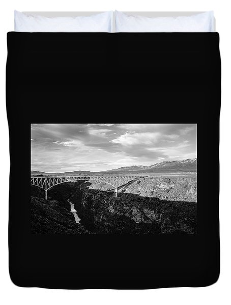 Duvet Cover featuring the photograph Rio Grande Gorge Birdge by Marilyn Hunt