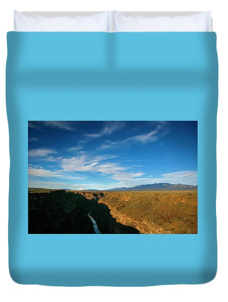 Duvet Cover featuring the photograph Rio Grande Gorge Nm by Marilyn Hunt