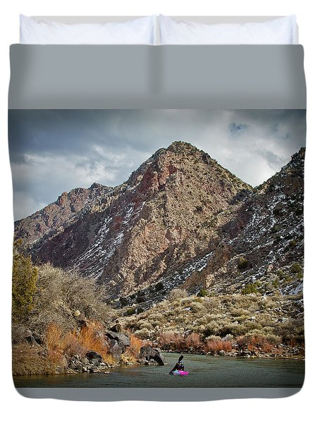 Rio Grande Racecourse In Winter Duvet Cover