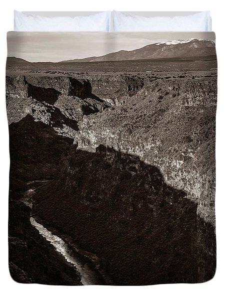 Rio Grande River Taos Duvet Cover